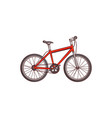 flat sketch detailed modern bicycle bike vector image