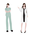flat style female doctor collection vector image