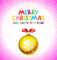 Golden realistic Christmas balls 2016 vector image vector image