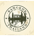 Grunge rubber stamp with Bangkok Thailand vector image vector image