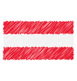 hand drawn national flag of austria isolated on a vector image