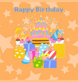 happy birthday party seamless pattern vector image vector image