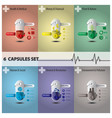 Health And Medical Capsule Set vector image vector image