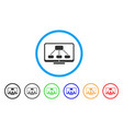 hierarchy monitoring rounded icon vector image vector image