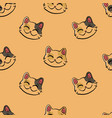 inky lucky cat pattern vector image