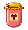 jar of honey icon cartoon style vector image