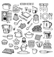 Kitchen utensils and appliance icons set vector image vector image