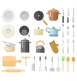Kitchenware set vector image vector image