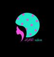 logo fashion design hair salon beauty woman face vector image vector image