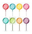 lollipops set - colorful lollipop icons isolated vector image