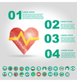 medical infographic element with icon in crumpled vector image