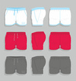 Men sport shorts vector image vector image