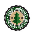 merry christmas 2018 sticker vector image vector image