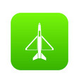 military aircraft icon digital green vector image vector image