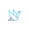 origami linear icon concept origami line vector image