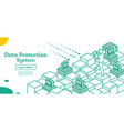 outline cyber security concept isometric isolated vector image vector image