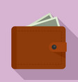 personal wallet icon flat style vector image vector image