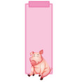 pig on the pink frame vector image vector image