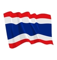 political waving flag of thailand vector image vector image