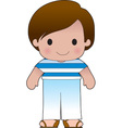 Poppy Greek Boy vector image vector image