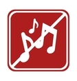Restricted music notes composite square sign