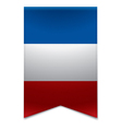 Ribbon banner - french flag vector image