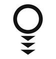 round arrow icon simple style vector image vector image