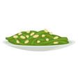 seaweed in plate served food with sesame seeds vector image
