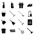 set cleaning icons vector image vector image
