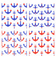 set four seamless pattern vector image vector image