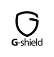 shield initial black line letter g logo concept vector image vector image