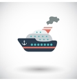 Ship flat icon vector image vector image