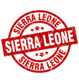 sierra leone red round grunge stamp vector image vector image