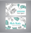 sketchy bussines card for photographer hand drawn vector image