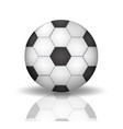 soccer ball icon in realistic 3d style football vector image