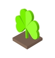 St Patricks day background with clover Isometric vector image vector image
