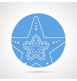 Starfish round icon vector image