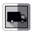 sticker silhouette transport truck with wagon and vector image vector image