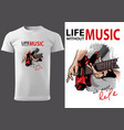 t-shirt with drawing electric guitar