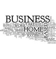 the key to success in your home based business vector image vector image