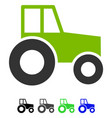 wheeled tractor flat icon vector image vector image