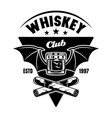 whiskey club emblem badge label or logo vector image vector image
