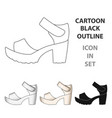 women summer white sandals on a bare foot vector image vector image