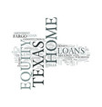 z home equity loans in texas text word cloud vector image vector image