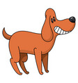 cartoon beagle smiles vector image