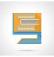 Book archive flat color design icon vector image
