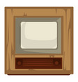40s tv set house item retro device movie and vector image vector image