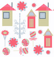 abstract houses seamless pattern it is located in vector image