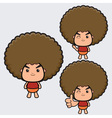 Afro Boy vector image vector image