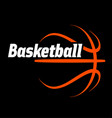 basketball logo simple line drawing vector image